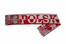 POLSKA POLAND COUNTRY FLAG POLSKA CZERWONI BIALO WARM THIN SCARF.. NEW