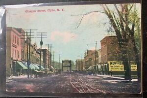 1910 Glasgow Street CLYDE New York postcard, Wayne County