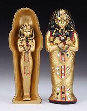 "Ancient Egyptian 8"" Tall King Tutankhamun Figurine Sarcophagus Box Set Pharaoh"
