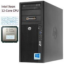 12 Core ✅ HP Z420 Workstation PC Xeon E5-2651v2 RAM 32GB SSD 240GB Nvidia Grafik