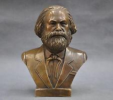 "7"" GERMAN GRAND communiste Carl Marx buste statue de bronze"