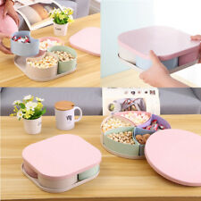 Candy Dried Fruit Tray Sealed Box Nuts Plate Snack Dish with Lid for Party