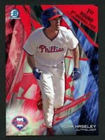 2017 BOWMAN DRAFT ADAM HASELEY RED BOX TOPPER 5X7 SSP 5/5 PHILLIES TOP PROSPECT