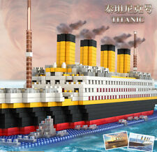 1860 PCS Giant Titanic Ship Boat Cruise Construction Toy Building Blocks Set