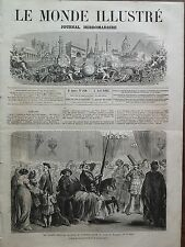 LE MONDE ILLUSTRE 1862 N 260 BAL COSTUME DONNE A PARIS PAR LE COMTE DE PERSIGNY