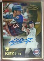 2016 Topps Gold Label Byung-Ho Park RC Autograph Gold Metal Frame