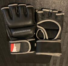 Mma Gloves Black Hybrid Sparring & Grappling Mma Gloves Hook and Loop Closure