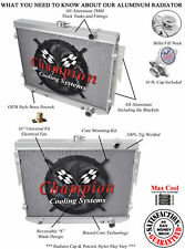 """4 Row Ace Champion Radiator W/ 16"""" Fan for 1973 - 1978 Dodge Charger V8 Engine"""