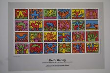 Poster / Kunstdruck: Keith Haring Retroscept 1989  84x60 cm NEU