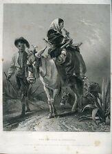 «The way-side in andalusia» grabado por C. Cousen sobre obra de R. Ansdell