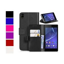 CASE FOR SONY XPERIA Z3 WALLET VARIOUS COLOURS COVER