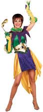Mardi Gras Miss Adult Costume Dress Jester Halloween