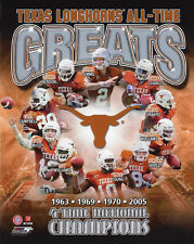 TEXAS LONGHORNS All-Time Greats Glossy 8x10 Photo Jamaal Charles Earl Campbell
