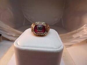 VINTAGE 10K Gold 1960'S ABC 300 Game American Bowling Congress Ring w/ diamond