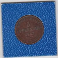 5 Pfennig Sachsen 1862 B Johann Saxony