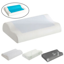 Memory Foam Cooling Gel Pillow Orthopedic Bed Pillow Reversible W/ Washable Case