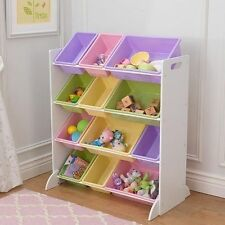 Kidkraft 15450 Pastel and White Sort It &amp It 12 Bin Unit Toy Organiser
