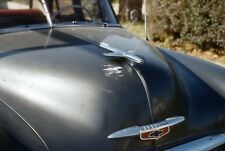 Shot of 1951 Chevy Hood w/ Ornament and Badge Chevrolet Vtg Color Photo Slide 1