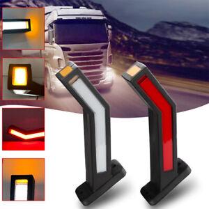 2PCS 12-24V Car LED Side Marker Lights Outline Lamp For Trailer Truck Van Lorry