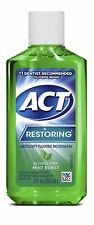 2 Pack ACT Restoring Anticavity Fluoride Mouthwash Mint Burst No Alcohol 3 Oz Ea