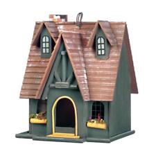 HOME GARDEN DECOR STORYBOOK COTTAGE BIRD HOUSE BIRDHOUSE WOOD