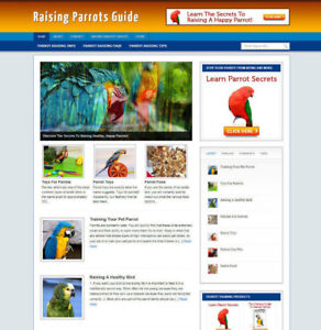 RAISING PARROTS TIPS WEBSITE & AFFILIATE STORE + BANNERS AND NEW DOMAIN