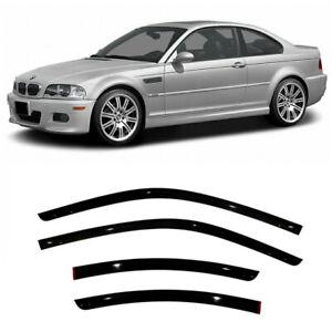 For BMW 3 Coupe E46 1999-2006 Window Visors Side Sun Rain Guard Vent Deflectors