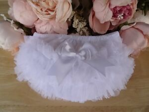 100% Cotton Baby Girl Lace Frilly Pants Knickers Christening Occasion 0-6-12-18m