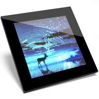 1 x Magical Wild Deer Art Design Glass Coaster - Kitchen Student Gift #14026