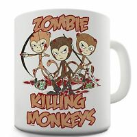 Zombie Killing Monkeys Novelty Gift Mug