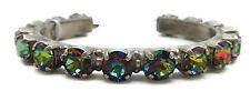 SORRELLI Volcano Round Cut Antique Silvertone Crystal Cuff Bracelet