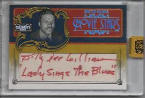 2008 DONRUSS CELEBRITY CUTS MOVIE STARS  BILLY DEE WILLIAMS AUTO 09/15 STAR WARS