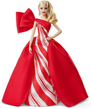 Barbie 2019 Holiday Doll Blonde Gifts Girls Toy Red Gown Christmas Festive