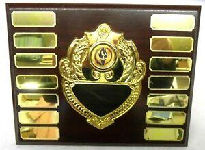 "7"" Annual Sports/Activity Presentation Shield - 14 Plates & Free Engraving!"