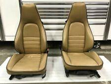 Original RARE Porsche 911 930 964 965 Carrera Turbo RECARO Sport Seats Tan Blue