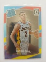 LONZO BALL RC 2017-18 Donruss Optic Red and Yellow Rated Rookie #199 LA LAKERS