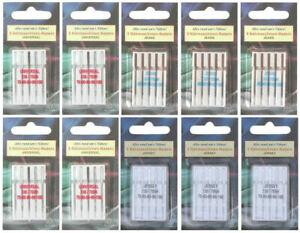 50 Nähmaschinennadeln Universal Jeans und Jersey Flachkolben für Nähmaschine