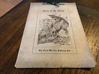 1914 WW I Girls Of The Allies Illustrations Book Folio Girl Pin Ups McIntyre
