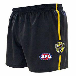 "AFL RICHMOND TIGERS ""NEW DESIGN"" ADULTS FOOTY SHORTS - BRAND NEW"