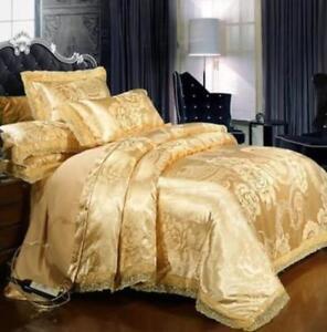 Family Silk Comfort Mulberry Duvet Cover Quilt Blanket Fitted Sheet Pillow Case