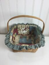 Vintage Longaberger Berry Basket 1986 24004 Lined Country Wedgwood Blue