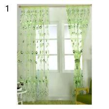 Ventana del dormitorio cenefas tul gasa cortina estampado de flores Drape Sheer