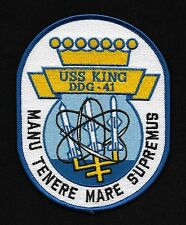 USS King DDG 41 Destroyer Ship Military Patch MANU TENERE MARE SUPREMUS