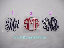 "6"" Diy Iron On Vinyl Initial Monogram Regular or Glitter - YouPick Color & Style"