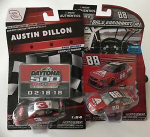 Nascar Daytona 500 Car Authentics Dale Earnhardt Jr #88 Wave10 Austin Dillon #3