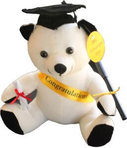 Congratulations Autograph Bear With Pen 22cm Graduation Signature Message Gift