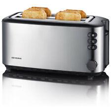 Severin AT 2509 Langschlitztoaster Toaster Edelstahl gebürstet/schwarz 1400 Watt