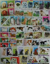 CATS fantastic worldwide collection 200 different stamps portraying cats (lot#DP
