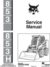 New Bobcat 853, 853 H Skid Steer Repair Service Manual 1995 6724012 FREE S&H