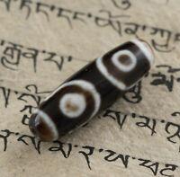 Dzi - 3 Occhi- Perle Sacra Tibetano Himalayan Perline Cina Tibet - 7408 D6